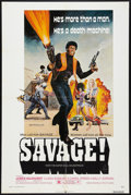 "Movie Posters:Blaxploitation, Savage! (New World, 1973). One Sheet (27"" X 41""). Blaxploitation.. ..."