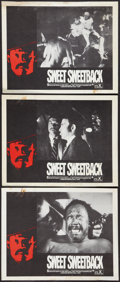 "Movie Posters:Blaxploitation, Sweet Sweetback's Baadasssss Song (Cinemation Industries, 1971).Lobby Cards (3) (11"" X 14""). Blaxploitation.. ... (Total: 3 Items)"