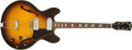 Musical Instruments:Electric Guitars, 1968 Gibson ES-330 TD Sunburst Thin-Hollow Body Electric Guitar, #947573. ...