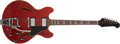 Musical Instruments:Electric Guitars, 1967 Gibson Trini Lopez Red Semi-Hollow Body Electric Guitar,#947832....