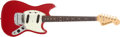 Musical Instruments:Electric Guitars, 1965 Fender Mustang Red Electric Guitar # L58587...