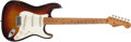 Musical Instruments:Electric Guitars, Early 1959 Fender Stratocaster Sunburst Electric Guitar, #32753....
