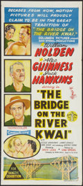 "Movie Posters:War, The Bridge On The River Kwai (Columbia, 1958). Australian Daybill(13"" X 30""). War.. ..."