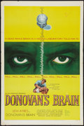 """Movie Posters:Science Fiction, Donovan's Brain (United Artists, 1953). One Sheet (27"""" X 41"""").Science Fiction.. ..."""