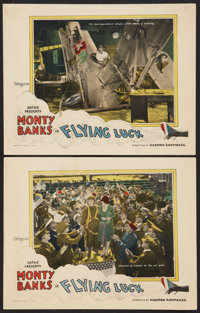 "Flying Luck Lot (Pathé, 1927). Lobby Cards (2) (11"" X 14""). Comedy. ... (Total: 2 Item)"