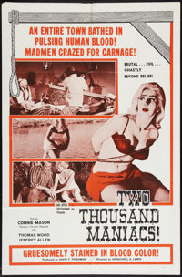 """Two Thousand Maniacs (Box Office Spectaculars, 1964). One Sheet (27"""" X 41""""). Horror"""