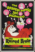 "Movie Posters:Sexploitation, The Ruined Bruin (Rossmore, 1961). One Sheet (28"" X 42"").Sexploitation.. ..."