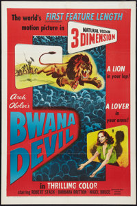"Bwana Devil (United Artists, 1953). One Sheet (27"" X 41"") 3-D Style. Adventure"