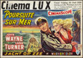 "Movie Posters:War, The Sea Chase (Warner Brothers, 1955). Belgian (14.75"" X 21.25"").War.. ..."