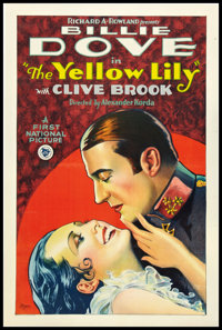"The Yellow Lily (First National, 1928). One Sheet (27"" X 41"") Style B. Drama"