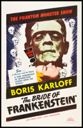 "Movie Posters:Horror, The Bride of Frankenstein (Realart, R-1953). One Sheet (27"" X 41"").Horror.. ..."