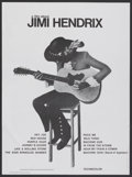 "Movie Posters:Rock and Roll, Jimi Hendrix (Warner Brothers, 1973). French Affiche (22.25"" X30.25""). Rock and Roll.. ..."