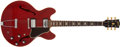 Musical Instruments:Electric Guitars, Circa 1966 Gibson ES-335 TDC Cherry Red Semi-Hollow Body Electric #800910...