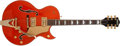 Musical Instruments:Electric Guitars, Modern Gretsch 6120N Orange Semi-Hollow Electric Guitar,#JT03063892. ...