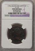 Large Cents, 1796 1C Draped Bust, Reverse of 1797 Brown--Burnished--NGC Details.Fine. S-119. ...