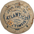 Baseball Collectibles:Balls, 1859 Brooklyn Atlantics Game Used Trophy Baseball, As Seen onAntiques Roadshow....