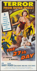 "The 27th Day (Columbia, 1957). Three Sheet (41"" X 81""). Science Fiction"