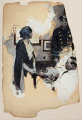 Mainstream Illustration, DEAN CORNWELL (American, 1892-1960). At the Precinct, storyillustration, 1929. Oil on board. 30 x 19 in.. Signed and da...