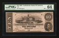 Confederate Notes:1862 Issues, Altered T52 $10 1862 PF-1 Cr. 369.. ...