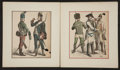 Antiques:Posters & Prints, Two Hand-Colored Period Costume Prints. [Germany: ca. 1880]. Lightedge wear with some minor soiling. Small edge tear to one...(Total: 2 Items)