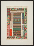 Antiques:Posters & Prints, Owen Jones. Two Color Plates on Middle Ages Ornamentation fromThe Grammar of Ornament. [London: ca. 1910]. Gene...(Total: 2 Items)