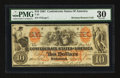 Confederate Notes:1861 Issues, T22 $10 1861 PF-2 Cr. 152.. ...