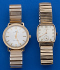 Timepieces:Wristwatch, Two 14k Gold Wristwatches. ... (Total: 2 Items)