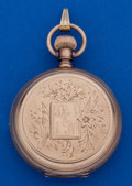 Timepieces:Pocket (post 1900), Waltham 10k Gold 6 Size Hunter's Case Pocket Watch. ...