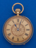 Timepieces:Pocket (post 1900), T. R. Russell 18k Gold 39 mm Pocket Watch. ...