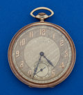 Timepieces:Pocket (post 1900), Waltham 21 Jewel 14k Gold Maximus A Masonic Case. ...