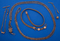 Timepieces:Watch Chains & Fobs, A Lot Of Four Gold Filled Antique Pocket Watch Chains. ... (Total: 4 Items)