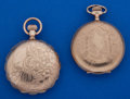 Timepieces:Pocket (post 1900), Two - 6 Size Gold Filled Hunter's Cases Pocket Watches. ... (Total:2 Items)
