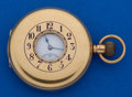 Timepieces:Pocket (post 1900), Waltham 12 Size 18k Gold Demi-Hunter Pocket Watch. ...