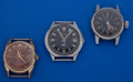 Timepieces:Wristwatch, A Lot Of Three Vintage Bulova's Wristwatches Runners. ... (Total: 3 Items)