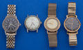 Timepieces:Wristwatch, A Lot Of Four Vintage Wristwatches. ... (Total: 4 Items)