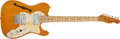 Musical Instruments:Electric Guitars, 1971 Fender Telecaster Thinline Natural Electric Guitar #398448....