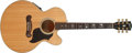 Musical Instruments:Electric Guitars, 2001 Gibson J-180 EC Natural Electric Acoustic Guitar,#00081037....