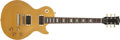 Musical Instruments:Electric Guitars, 1989 Gibson Les Paul Classic All Gold Solid Body Electric Guitar,#966. ...
