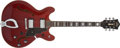 Musical Instruments:Electric Guitars, 1980s Guild Starfire IV Cherry Semi-Hollow Electric Guitar,#G100420. ...