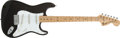 Musical Instruments:Electric Guitars, 1975 Fender Stratocaster Black Electric Guitar, #658846....