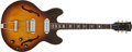 Musical Instruments:Electric Guitars, 1964 Gibson ES-330TC Sunburst Thin-Hollow Electric Guitar, #68947....