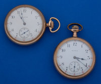 Two Elgin's 16 Size Pocket Watches