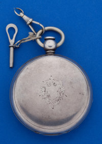 Elgin 4 1/2 Oz. Coin Sliver 18 Size Key Wind Pocket Watch
