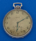 Timepieces:Pocket (post 1900), Elgin 14k White Gold 12 Size Pocket Watch. ...