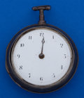 Timepieces:Pocket (pre 1900) , James Carlill York Verge Fusee Sterling Pair Case Pocket Watch. ...