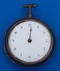 James Carlill York Verge Fusee Sterling Pair Case Pocket Watch