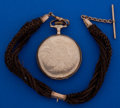 Timepieces:Pocket (post 1900), Waltham 16 Size Pocket Watch With Hair Chain. ...