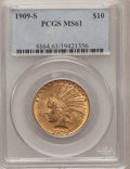 Indian Eagles, 1909-S $10 MS61 PCGS....