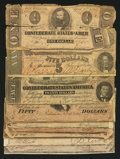 Confederate Notes:Group Lots, $1 1863; $50; $20; and $5 1864 Notes.. ... (Total: 9 notes)