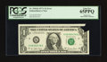 Error Notes:Printed Tears, Fr. 1910-K $1 1977A Federal Reserve Note. PCGS Gem New 65PPQ.. ...
